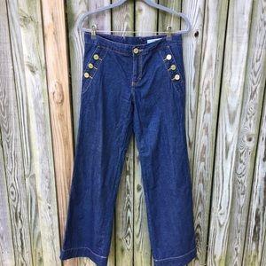 Tommy Hilfiger Wide Leg Sailor Jeans sz 8
